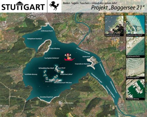 Tretbootfahrende Barbarella auf Baggersee 21